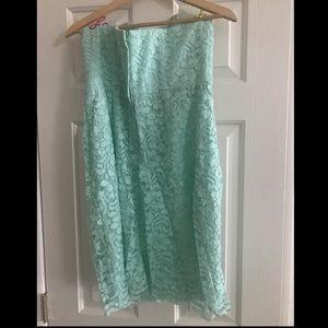 Aqua lace David's Bridal dress